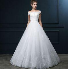 White-Lace-Tulle-Strapless-Sleeveless-Floor-Length-A-line-font-b-Wedding-b-font-font-b.jpg (829×842)