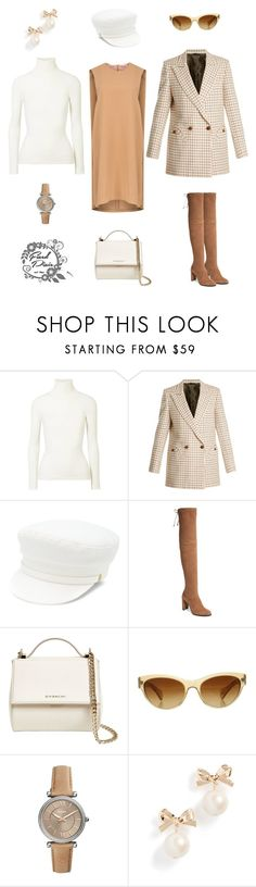 """Untitled #41"" by fixedpixie ❤ liked on Polyvore featuring JoosTricot, Blazé Milano, Manokhi, Stuart Weitzman, Givenchy, Oliver Peoples, Kate Spade, dress, jacket and turtleneck"