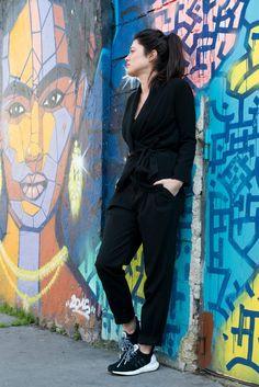 Comment porter des baskets running avec une tenue chic ? - latelierdal blog lifestyle mode Paris www.latelierdal.com Look blog Adidas Wood Wood Frida Kahlo Street art
