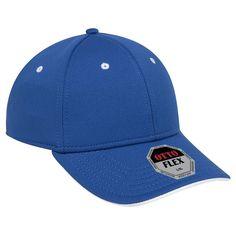 Wholesale Otto Flex Stretchable Polyester Cool Mesh Flipped Edge Visor Low Profile Style Caps (S/M) (L/X)