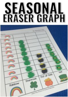Seasonal Eraser Math - Sharing Kindergarten