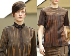 Wood grain isn't just for furniture. #wood #grain #fashion