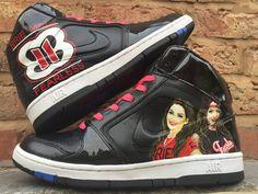 The Bella Twins WWE custom Nike Dunk High by SLICK2KICKS on Etsy https://www.etsy.com/listing/245016428/the-bella-twins-wwe-custom-nike-dunk