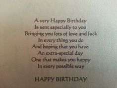 VERSES FOR MALE BIRTHDAY CARDDS ON PINTREST - Yahoo Image Search Results