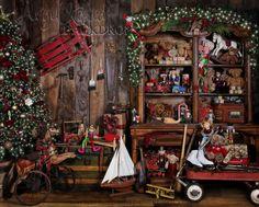 Santa's Workshop 8×10   Angel Kissed Designs and Backdrops