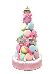 Macaron Tower, Macarons, Birthday Cake, Desserts, Food, Tailgate Desserts, Deserts, Birthday Cakes, Essen