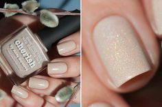 piCture pOlish NEW 'Cherish' created with Anna Gorelova LOVE thank you Anna! Cherish is a Taupe/Beige scatter holo www.picturepolish.com.au