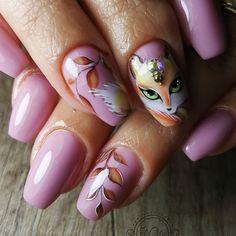 💅🦊🦊✔🔛 #autumnnails2018 #nailart #nailsoftheday #nailsart #nails2inspire #nails💅 #nailsofinstagram #nailsofinsta #mmynails… Acrylic Nail Designs, Nail Art Designs, Gel Nails, Acrylic Nails, Animal Nail Art, Toe Polish, Nails 2018, Autumn Nails, Fancy Nails