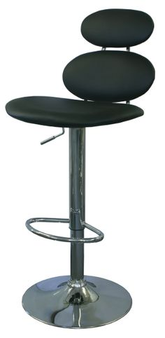 The Bolla Gas Lift Bar Stools in Black.