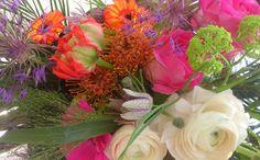 Gemaakt op school, hou van deze bloemen en kleuren