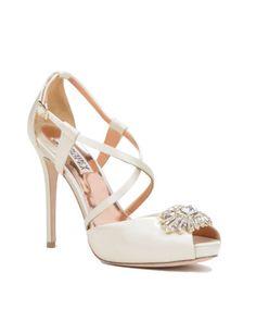 Badgley Mishka Hilary Embellished Peep-toe Heel wedding shoe
