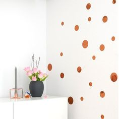 Kupfer Konfetti farbmix set 90 dots a 5cm konfetti wandsticker uab diy