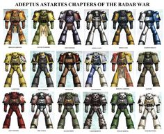 Space Marine Chapters of the Badab War