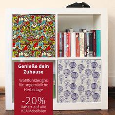Bis Sonntag, 28.09. gibt es 20% auf alle Designfolien für IKEA-Möbel. Jetzt online shoppen unter www.creatisto.com #moebelfolie #ikea #creatisto
