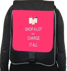 RIKKI KNIGHTTM SHOP A LOT & CHARGE IT ALL TROPICAL PINK BACK PACK - Click image twice for more info - See a larger selection of pink backpacks at http://kidsbackpackstore.com/product-category/pink-backpacks/ -  kids, juniors, back to school, kids fashion ideas, teens fashion ideas,  school supplies, backpack, bag , teenagers girls , gift ideas, pink.