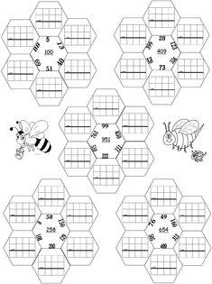 10 fiches autocorrectives avec des pyramides additives de niveau 2 ...