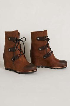 Anthropologie - Joan of Arctic Wedge Mid-Boots
