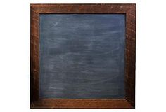 """24"""" Square Chalkboard, Rustic // Mudroom Makeover   One Kings Lane"""