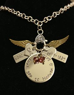 Can be customized anyway you like. Please check out all my designs at ETSY - charmedjewelrybycday  or on Facebook at www.facebook.com/cindyscharmedjewelry   Thanks for looking.