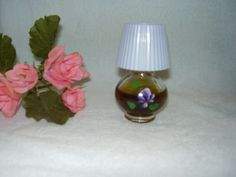 COLLECTABLE VINTAGE AIDEES VIOLETS PERFUME LAMP SHADE BOTTLE Take a L@@k !