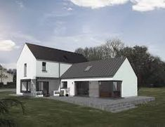 Image result for contemporary 1.5 story dormer houses ireland Bungalow Haus Design, Modern Bungalow House, Rural House, Bungalow Exterior, Style At Home, House Designs Ireland, Dormer House, L Shaped House, Farmhouse Renovation
