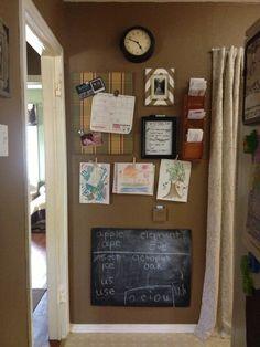 Homeschool  kitchen command center