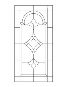 ★ Stained Glass Patterns for FREE ★ glass pattern 736 ★