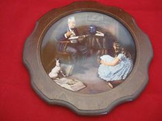 """""""The Storyteller"""" By Norman Rockwell May 1983 Knowles Collector Plate In Frame N11747  #thestoryteller #normanrockwell #art #artwork #collectorplate #decorativeplates #framed #may1983 #knowles #collectibles #ebay"""