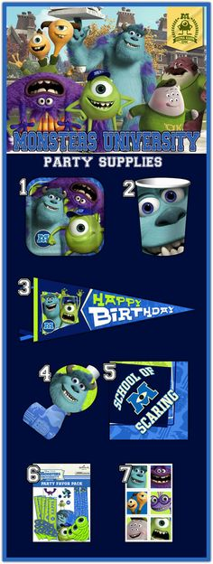 7 Fun Monsters University Party Supplies for Your Little One's Birthday!