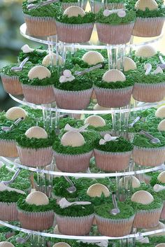 Weddings - The simplest way to find local wedding event venues, cakes, gowns, . Surrounded by pristinely landscaped golf courses and nearby. Golf Cupcakes, Themed Cupcakes, Wedding Cupcakes, Wedding Cake, Golf Themed Cakes, Golf Centerpieces, Golf Wedding, Wedding Bells, Golf Party