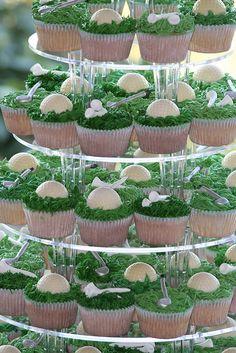Golf Theme Wedding Cupcakes, via Flickr.