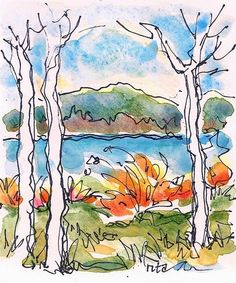 Sketchbook Wandering: Maine Tiny Autumn Series