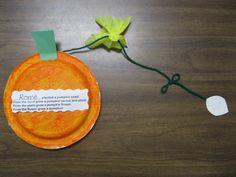 Kindergarten Rocks!: October 2011 pumpkin sequence