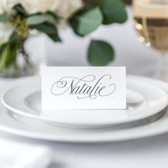 Elegant Script Wedding Place Cards, Wedding Escort Cards, Wedding Name Cards, Wedding Seating Plan, Calligraphy Place Cards