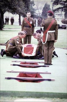 Hero's farewell: Ian's coffin carried by: (in front, moustache) John Hedges, behind him Ian Bailey, then Sgt Des Fuller, and at back John Weeks Parachute Regiment, Bbc World Service, Falklands War, Royal Marines, Man Go, Get Shot, Many Men, Best Husband, British Army