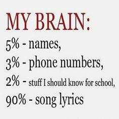 song lyrics and beats We remember the important stuff.  #DUPID #brain #songlyrics