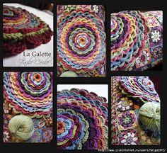 """Oro Crochet: Funda de almohada """"flor""""!"""