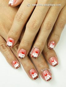 Simply Rins: Nail Art Tutorial: Cupcakes for Valentine's
