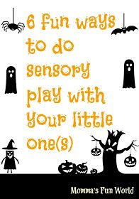 Momma's Fun World: 6 fun and inexpensive Halloween sensory play