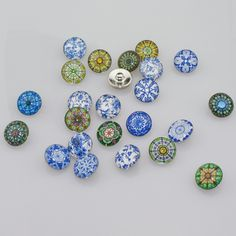 Soleebee Mixed 18mm Glass Aluminum National Wind Snap Buttons Jewelry Charms Fit Snaps Bracelets 24pcs *** Be sure to check out this awesome product.