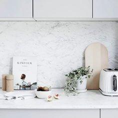 kitchen by @corina_koch_stylist for @reallivingmag! Happy Monday everyone! | Photo by Kristina Soljo