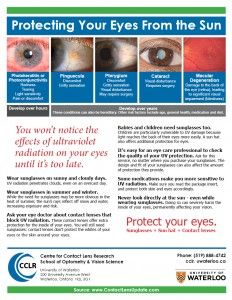 Patient handout: Protecting your eyes from the sun | Contact Lens Update