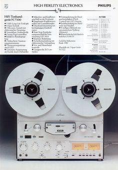 Philips 1980 - www.remix-numerisation.fr - Rendez vos souvenirs durables ! - Sauvegarde - Transfert - Copie - Digitalisation - Restauration de bande magnétique Audio - MiniDisc - Cassette Audio et Cassette VHS - VHSC - SVHSC - Video8 - Hi8 - Digital8 - MiniDv - Laserdisc - Bobine fil d'acier - Digitalisation audio Cd Audio, Audio Player, Hifi Audio, Audio Speakers, Cassette Recorder, Tape Recorder, Recording Equipment, Audio Equipment, Tape Storage