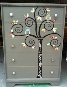 Super cute for a kids room, I might have to do this!!! Whimsy Furniture