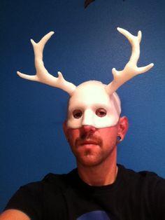 Antler masquerade mask - made using InstaMorph moldable plastic.