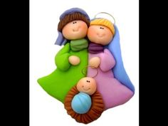 *SORRY, no information as to product used Polymer Clay Ornaments, Polymer Clay Figures, Polymer Clay Dolls, Polymer Clay Projects, Polymer Clay Creations, Nativity Crafts, Christmas Nativity, Holiday Crafts, Christmas Ornaments