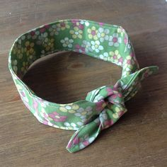 Vintage handmade knotted green fabric headband £5.50 #upcycled #vintage