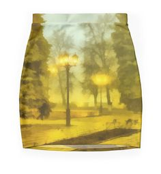"""Light of autumn evening."" Pencil Skirts by floraaplus 