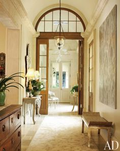 Entrance hall, private residence.  Design by Ann Holden.