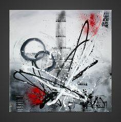 Tableau design moderne Tower #tableau #peinture #art #abstrait #moderne #contemporain #decoration #interieur